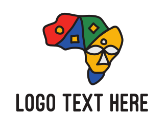 Continent - African Continent logo design