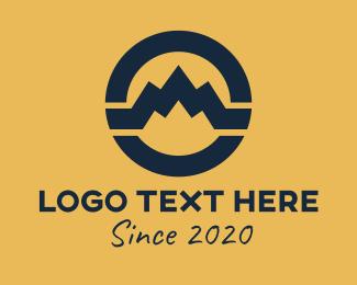 Mountain View - Mountain Circle Symbol logo design