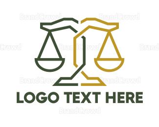 Lawyer - Geometric Justice logo design