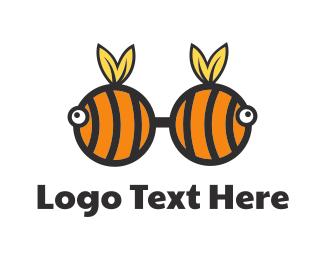 Glasses - Bee Glasses logo design