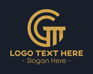 Pillar Letter G logo design