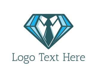 Dry Cleaning - Diamond Suit  logo design
