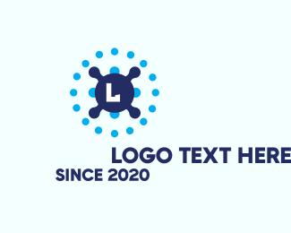 Programmer - Tech Dot Lettermark logo design