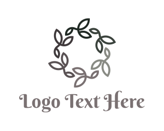 Black Floral Circle Logo