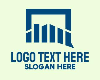 Stock Market - Current Stock Market Chat logo design