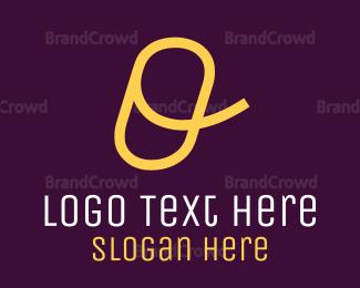 Calligraphic - Cursive Yellow Letter O logo design