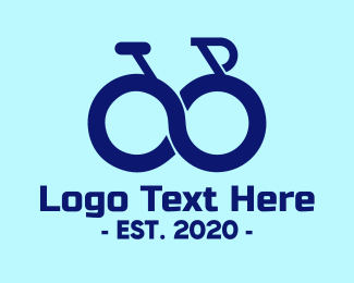 Cycling Club - Blue Infinity Bike logo design