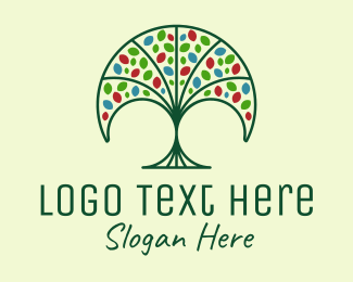 Natural Products - Nature Fan Tree  logo design
