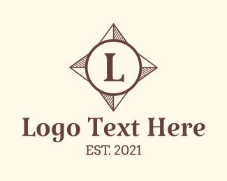 Navigation App - Direction Compass Letter logo design
