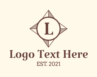 Voyage - Direction Compass Letter logo design
