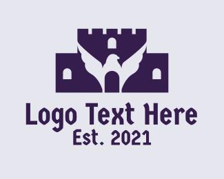 Fortress - Eagle Castle Fortress logo design