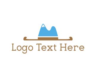 Cowboy - Hat Mountain logo design
