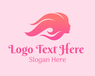 Pinkish - Pink Beauty Woman logo design