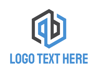 P - Abstract & Hexagonal logo design
