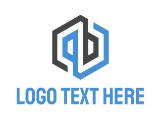 Industry - Abstract & Hexagonal logo design