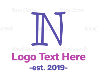 Babysitting - Preschool Letter N logo design