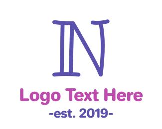 Lettering - Preschool Letter N logo design