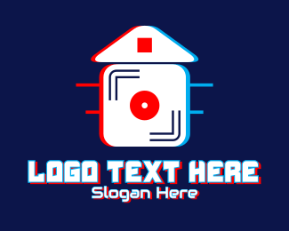 Lp - Glitch House Music  logo design
