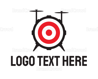 Rock Band - Drum Target Band logo design