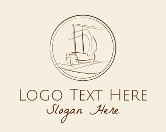Explorer - Explorer Ship Drawing logo design