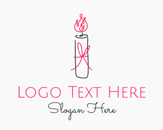 Scent - Minimal Candle Gift logo design