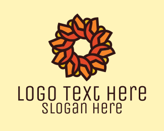 Beauty - Orange Sunflower Mosaic logo design