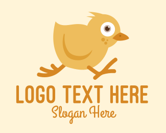 Nursery - Baby Chicken Chick Run logo design