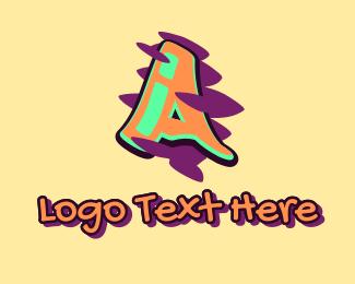 Arts - Graffiti Art Letter A logo design