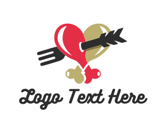 Food Truck - Love Chicken logo design