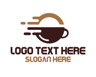 Latte - Quick Coffee Tech logo design
