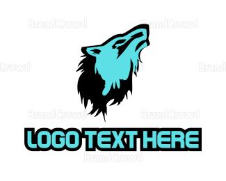 Pictorial - Blue Wolf logo design