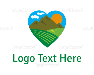 Outdoor - Mountain Love logo design