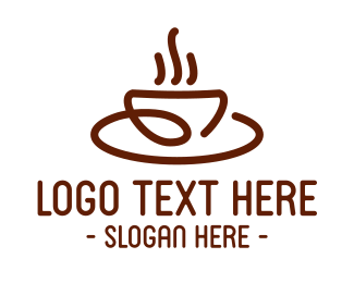 Aroma - Stroke Coffee Brew Cafe logo design