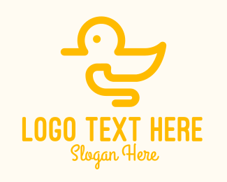 Toy Shop - Yellow Duck Toy logo design