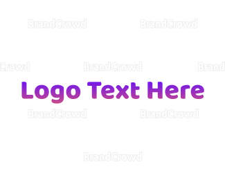 Simple - Simple Gradient Purple logo design