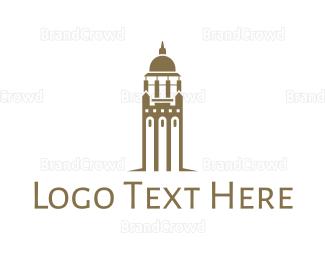 Bell - Golden Bell Tower logo design