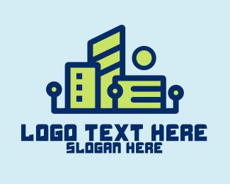 Metropolis - Digital Tech City logo design