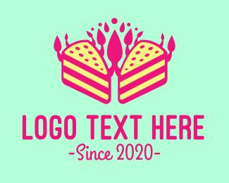 Pink - Bakery Pink Cake  logo design