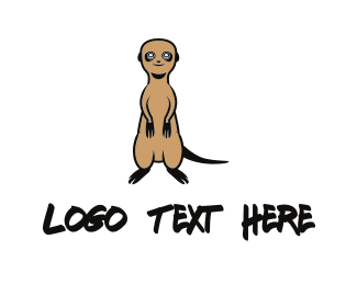Smiling - Cute Meerkat logo design