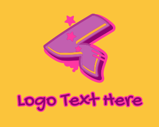 Record Producer - Graffiti Star Number 4 logo design