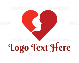 Bachelorette - Red Woman Heart logo design