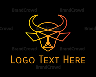Buffalo - Minimalist Bull logo design