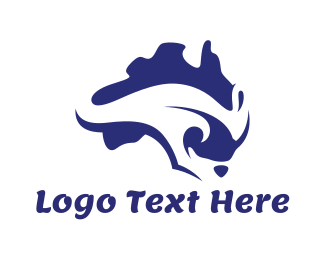 New South Wales - Australian Kangaroo  logo design