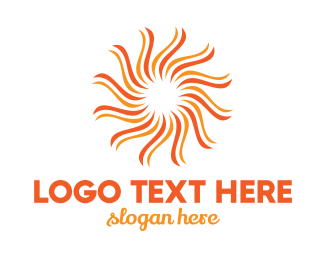 """Orange Flower Sun"" by LogoBrainstorm"