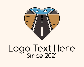 Trip - Road Trip Heart logo design