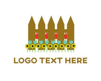 Groovy - Flower Fence logo design