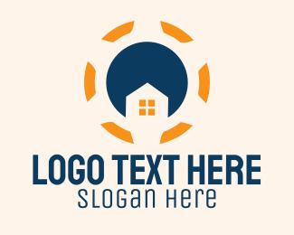 Home Property - House Steering Wheel  logo design