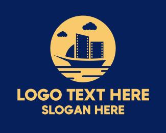 Boat - Boat Filmstrip Video logo design