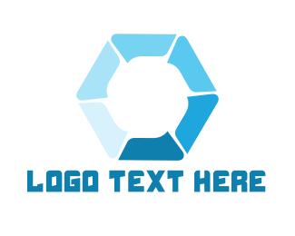 Turbine - Hydraulic Hexagon logo design