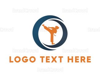 Fighting - Champion Karate logo design